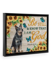 HEELER - BE STILL AND KNOW THAT I AM GOD CANVAS 14x11 Black Floating Framed Canvas Prints front