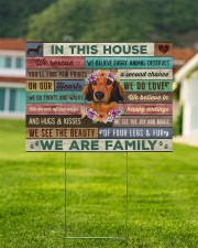 Dachshund - In this house yard sign 24x18 Yard Sign aos-yard-sign-24x18-lifestyle-front-01