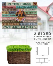 Dachshund - In this house yard sign 24x18 Yard Sign aos-yard-sign-24x18-lifestyle-front-28