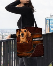 DACHSHUND MAMA CLOTH BAG All-over Tote aos-all-over-tote-lifestyle-front-05
