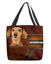 DACHSHUND MAMA CLOTH BAG All-over Tote front