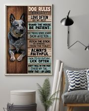 HEELER - DOG RULES POSTER 11x17 Poster lifestyle-poster-1