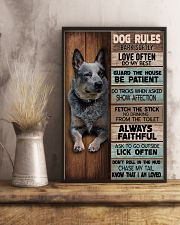 HEELER - DOG RULES POSTER 11x17 Poster lifestyle-poster-3