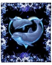 """Dolphin Blanket - Quilt Fleece Blanket - 50"""" x 60"""" front"""