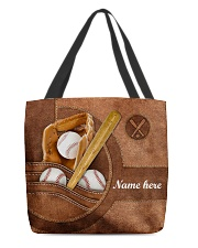 BASEBALL BAG-ACCESSORY POUCH-PILLOW All-over Tote front