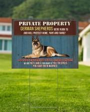 GERMAN SHEPHERD WARNED YARD SIGN  24x18 Yard Sign aos-yard-sign-24x18-lifestyle-front-01