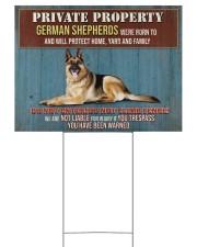 GERMAN SHEPHERD WARNED YARD SIGN  24x18 Yard Sign back