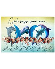 DOLPHIN - GOD SAYS YOU ARE 17x11 Poster front