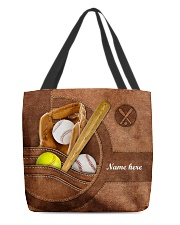 BASEBALL-SOFTBALL BAG-ACCESSORY POUCH-PILLOW All-over Tote front