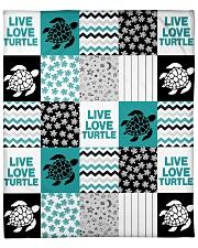 """LIVE LOVE TURTLE QUILT BLANKET Fleece Blanket - 50"""" x 60"""" front"""