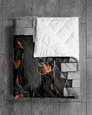 "DOBERMAN QUILT Quilt 50""x60"" - Throw aos-quilt-50x60-lifestyle-closeup-front-04"