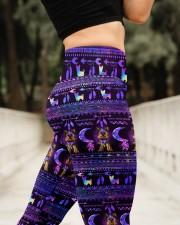 YORKSHIRE TERRIER  BOHO PATTERNB High Waist Leggings aos-high-waist-leggings-lifestyle-11