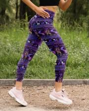 YORKSHIRE TERRIER  BOHO PATTERNB High Waist Leggings aos-high-waist-leggings-lifestyle-15