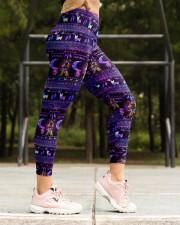 YORKSHIRE TERRIER  BOHO PATTERNB High Waist Leggings aos-high-waist-leggings-lifestyle-16