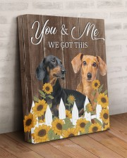 DACHSHUND - YOU AND ME WE GOT THIS 11x14 Gallery Wrapped Canvas Prints aos-canvas-pgw-11x14-lifestyle-front-07