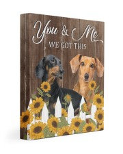 DACHSHUND - YOU AND ME WE GOT THIS 11x14 Gallery Wrapped Canvas Prints front