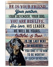 DACHSHUND - HE IS YOUR FRIEND 11x17 Poster front