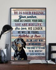 DACHSHUND - HE IS YOUR FRIEND 11x17 Poster lifestyle-poster-2