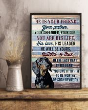 DACHSHUND - HE IS YOUR FRIEND 11x17 Poster lifestyle-poster-3