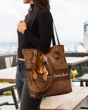 DACHSHUND CLOTH TOTE-ACCESSORY POUCH-PILLOW All-over Tote aos-all-over-tote-lifestyle-front-04
