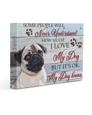 PUG - SOME PEOPLE WILL NEVER UNDERSTAND 14x11 Gallery Wrapped Canvas Prints front