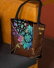 TURTLE AND FLOWER BAG All-over Tote aos-all-over-tote-lifestyle-front-02