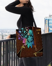 TURTLE AND FLOWER BAG All-over Tote aos-all-over-tote-lifestyle-front-05