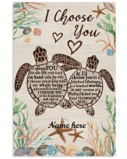 I Choose You Custom turtle poster 11x17 Poster front