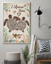 I Choose You Custom turtle poster 11x17 Poster lifestyle-poster-1