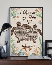 I Choose You Custom turtle poster 11x17 Poster lifestyle-poster-2