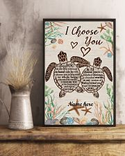 I Choose You Custom turtle poster 11x17 Poster lifestyle-poster-3