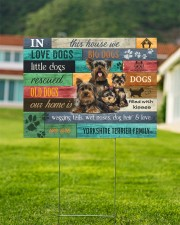YORKSHIRE TERRIER YARD SIGN YARD SIGN 24x18 Yard Sign aos-yard-sign-24x18-lifestyle-front-01
