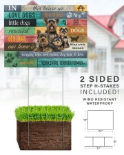 YORKSHIRE TERRIER YARD SIGN YARD SIGN 24x18 Yard Sign aos-yard-sign-24x18-lifestyle-front-28