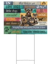 YORKSHIRE TERRIER YARD SIGN YARD SIGN 24x18 Yard Sign front