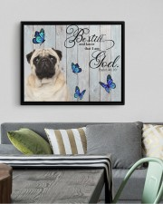 PUG CANVAS - BE STILL AND KNOW THAT I AM GOD 14x11 Black Floating Framed Canvas Prints aos-floating-framed-canvas-pgw-14x11-black-lifestyle-front-02
