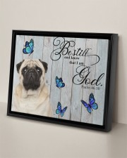 PUG CANVAS - BE STILL AND KNOW THAT I AM GOD 14x11 Black Floating Framed Canvas Prints aos-floating-framed-canvas-pgw-14x11-black-lifestyle-front-06