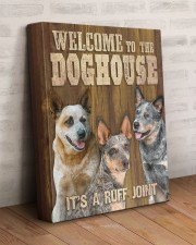 HEELER - WELCOME TO THE DOG HOUSE 11x14 Gallery Wrapped Canvas Prints aos-canvas-pgw-11x14-lifestyle-front-07