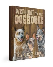 HEELER - WELCOME TO THE DOG HOUSE 11x14 Gallery Wrapped Canvas Prints front