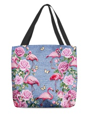 FLAMINGOES AND FLOWER BAG All-over Tote back
