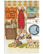 LAUNDRY YORKIE POSTER 11x17 Poster front