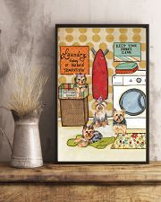 LAUNDRY YORKIE POSTER 11x17 Poster lifestyle-poster-3