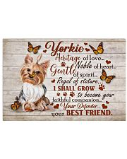 YORKIE HERITAGE OF LOVE POSTER 17x11 Poster front