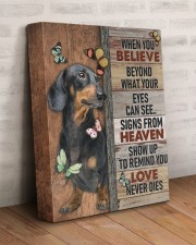 DACHSHUND - CANVAS WHEN YOU BELIEVE 11x14 Gallery Wrapped Canvas Prints aos-canvas-pgw-11x14-lifestyle-front-07