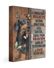 DACHSHUND - CANVAS WHEN YOU BELIEVE 11x14 Gallery Wrapped Canvas Prints front