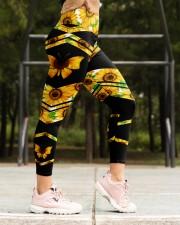 BUTTERFLY SUNFLOWER High Waist Leggings aos-high-waist-leggings-lifestyle-16