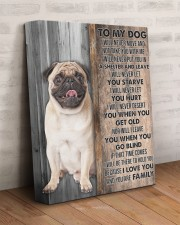 PUG - CANVAS TO MY DOG 11x14 Gallery Wrapped Canvas Prints aos-canvas-pgw-11x14-lifestyle-front-07