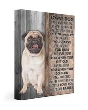 PUG - CANVAS TO MY DOG 11x14 Gallery Wrapped Canvas Prints front