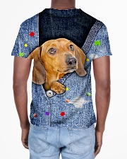 DACHSHUND ALL OVER TSHIRT All-over T-Shirt aos-all-over-T-shirt-lifestyle-back-02