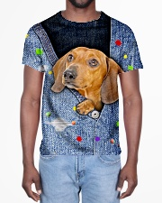 DACHSHUND ALL OVER TSHIRT All-over T-Shirt aos-all-over-T-shirt-lifestyle-front-02
