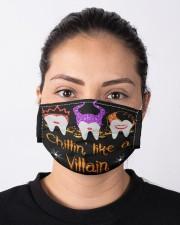 CHILLIN' LIKE A VILLAIN Cloth face mask aos-face-mask-lifestyle-01